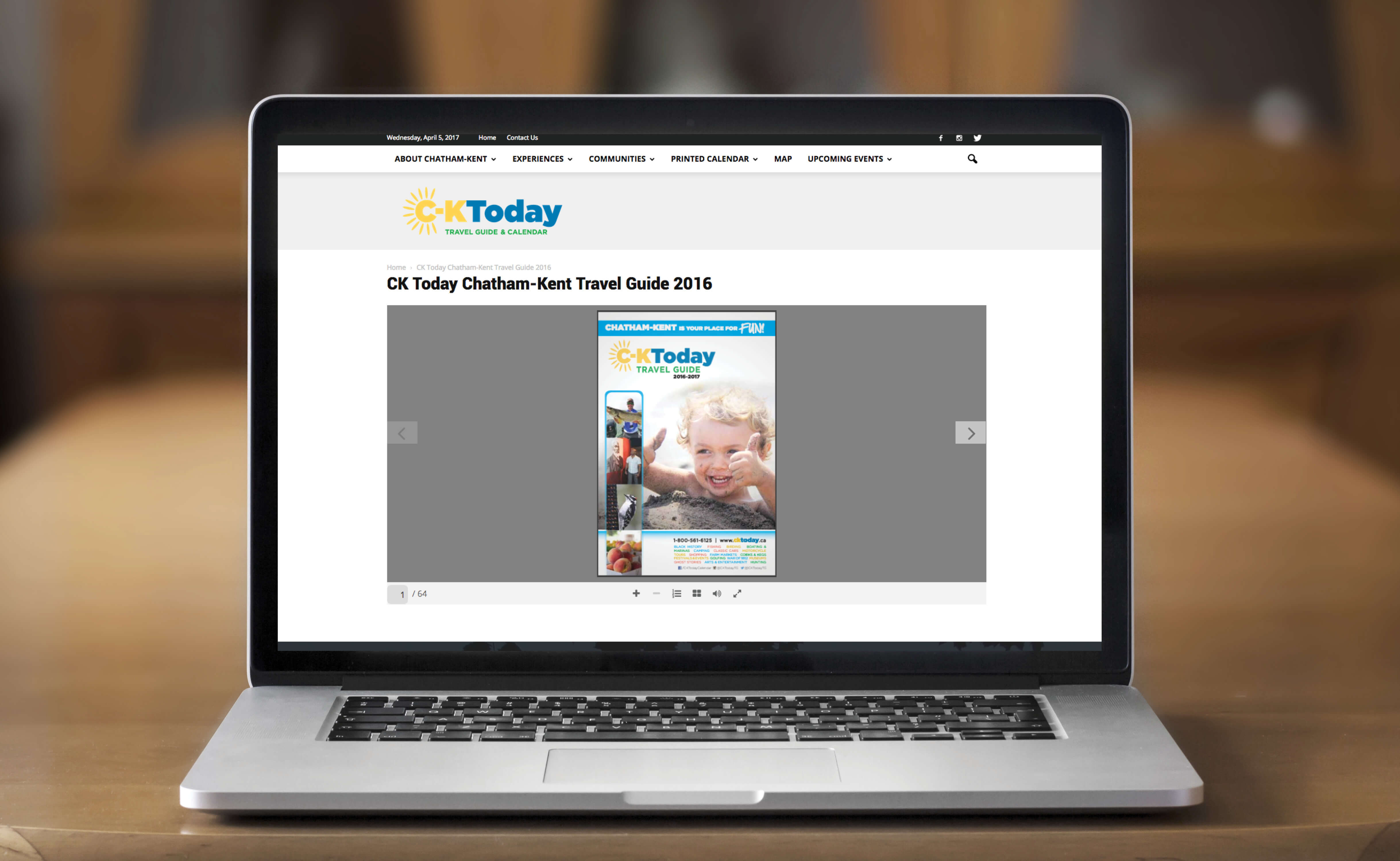 Ck Today Travel Guide website